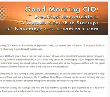 Good Morning CIO! Breakfast Roundtable #2 -