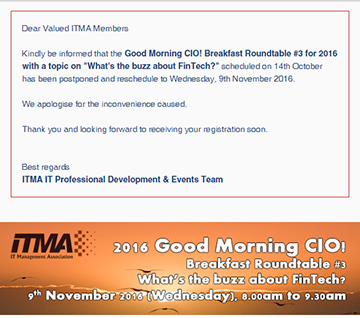 Good Morning CIO! Breakfast Roundtable #3 for 2016 with a topic on